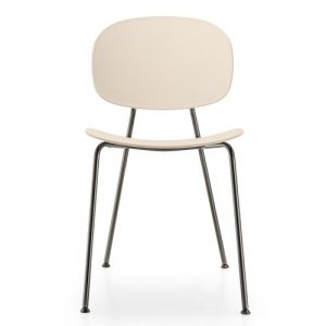 Tondina Dining Chair Infiniti Frame Colour: Rosewood, Leg Colour: Black Chrome