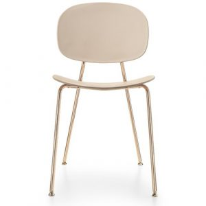 Tondina Dining Chair Infiniti Frame Colour: Rosewood, Leg Colour: Copper