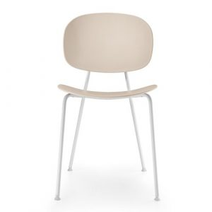 Tondina Dining Chair Infiniti Frame Colour: Rosewood, Leg Colour: White