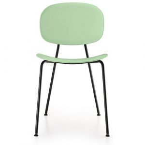 Tondina Dining Chair Infiniti Frame Colour: Water Green, Leg Colour: Black