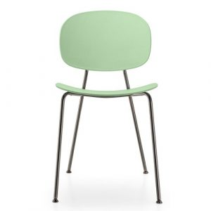 Tondina Dining Chair Infiniti Frame Colour: Water Green, Leg Colour: Black Chrome