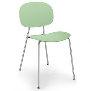 Tondina Dining Chair Infiniti Frame Colour: Water Green, Leg Colour: Chrome