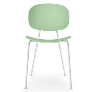 Tondina Dining Chair Infiniti Frame Colour: Water Green, Leg Colour: White