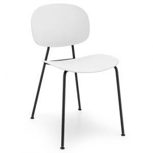 Tondina Dining Chair Infiniti Frame Colour: White, Leg Colour: Black