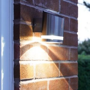 Welcome LED Solar Powered Outdoor Sconce Festive Lights