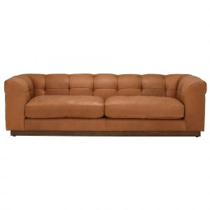 Whitman Split Frame 4 Seater Leather Sofa, Stock