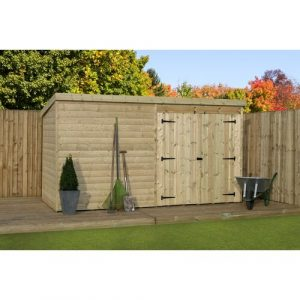 12 ft. W x 5 ft. D Solid Wood Garden Shed WFX Utility