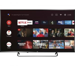 "55"" JVC LT-55CA890 Android TV Smart 4K Ultra HD HDR LED TV with Google Assistant"