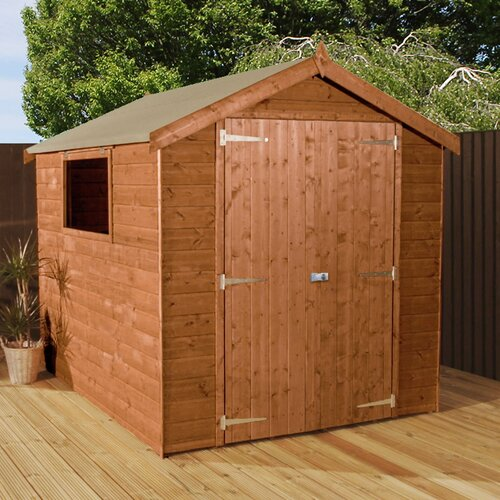6 ft. W x 8 ft. D Solid Wood Garden Shed WFX Utility