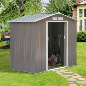 7 ft. W x 4 ft. D Metal Garden Shed WFX Utility