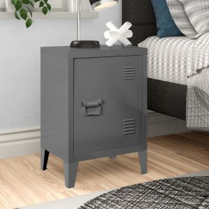 Abasi Side Table Hashtag Home Colour: Grey
