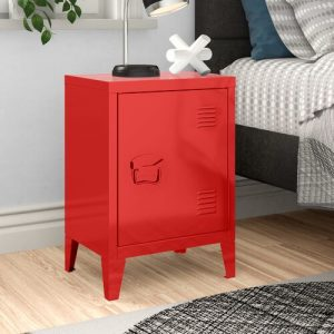 Abasi Side Table Hashtag Home Colour: Red