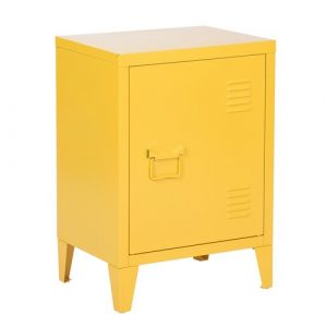 Abasi Side Table Hashtag Home Colour: Yellow