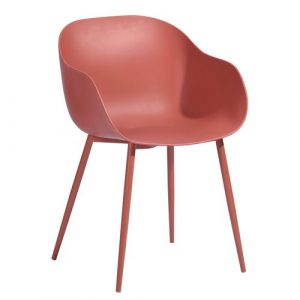 Able Dining Chair Hashtag Home Colour: Red