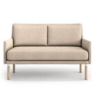 Adan 2 Seater Sofa Mikado Living Upholstery Colour: Beige