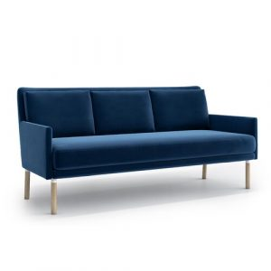 Adan 3 Seater Sofa Mikado Living Upholstery Colour: Navy Blue