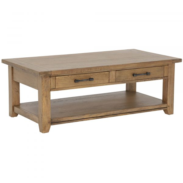Antix Coffee Table 2 Drawers, Smokehouse Distress