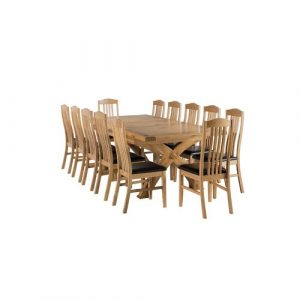 Apollonia Extendable Dining Set with 12 Chairs Gracie Oaks