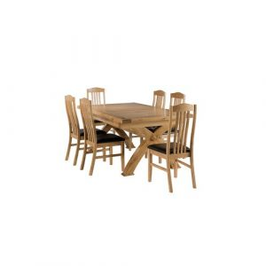 Apollonia Extendable Dining Set with 6 Chairs Gracie Oaks