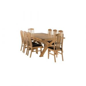 Apollonia Extendable Dining Set with 8 Chairs Gracie Oaks