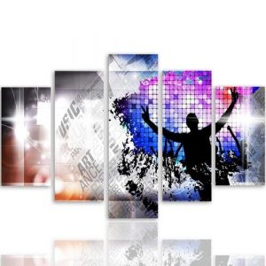 Art Dance - 5 Piece Wrapped Canvas Graphic Art Print Set Feeby Size: 140cm H x 300cm W x 3cm D