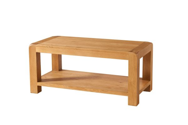 Avalon Oak Coffee Table with Shelf