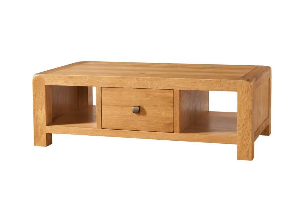 Avalon Oak Large Coffee Table with Drawer