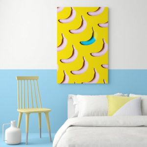 'Banana Odds Kitchen' - Wrapped Canvas Graphic Art Print Hashtag Home Size: 121.9 cm H x 81.3 cm W