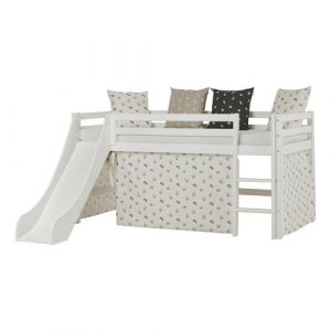 Basic Bed with Slide and PETS Pristine Curtain Hoppekids Size: European Single (90 x 200cm)