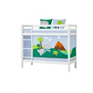 Basic Bunk Bed with Dinosaurs Curtain Hoppekids