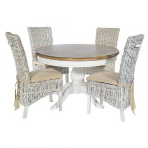 Bellemoor Dining Set with 4 Chairs Breakwater Bay