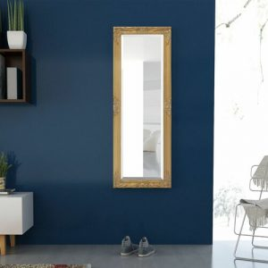 Blanche Full Length Mirror Marlow Home Co. Size: 140cm H x 50cm W, Finish: Gold