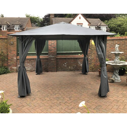 Boyne 2.5m x 2.5m Steel Patio Gazebo Dakota Fields