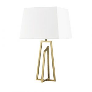 Bryant 55cm Table Lamp Canora Grey Base Finish: Antique Brass