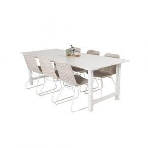 Caja Dining Set with 6 Chairs Ebern Designs