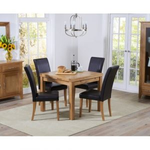 Castorena Extendable Dining Set with 4 Chairs Rosalind Wheeler Colour (Chair): Black