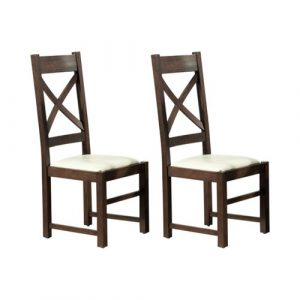 Castorena Solid Wood Dining Chair Rosalind Wheeler Upholstery Colour: Brown, Frame Colour: Oak