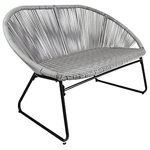 Charles Bentley Bali 2 Seater Grey Garden Bench
