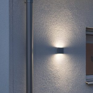 Chieri Modern Up Down 2 Light Outdoor Flush Mount Konstsmide