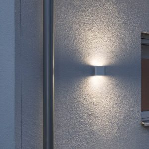 Chieri Modern Up Down 2 Light Outdoor Flush Mount Konstsmide Finish: Matt White
