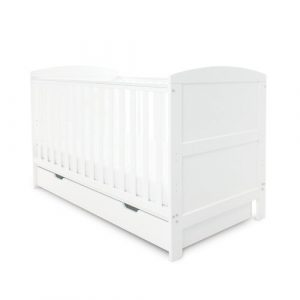 Coleby Cot Bed with Mattress Ickle Bubba Colour: White, Mattress Type: Foam