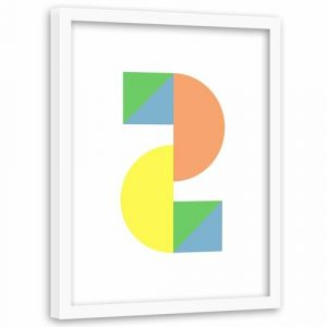 'Colourful Geometric Figures' - Picture Frame Graphic Art Print on Paper Norden Home
