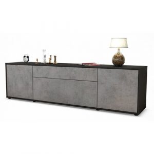 """Coombs TV Stand for TVs up to 42"""" Ebern Designs Colour: Concrete / Matte White"""