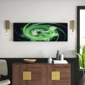 Enigma Panorama Abstract 1295 Graphic Art Print on Canvas East Urban Home