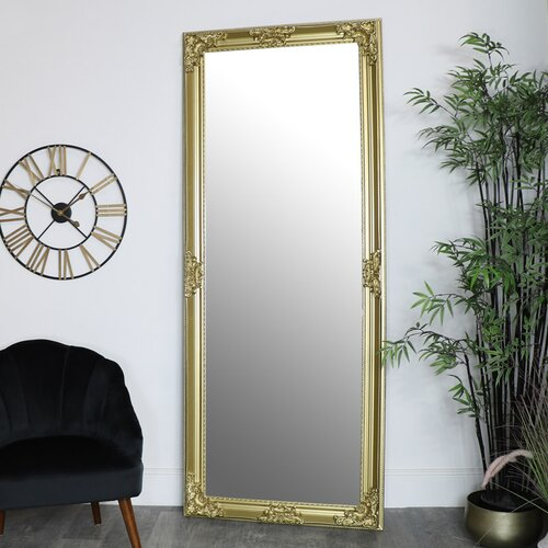Extra, Extra Large Ornate White Full Length Wall/Floor Mirror 85Cm X 210Cm Mercer41 Finish: Gold