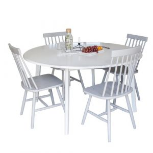 Farmington Dining Set with 4 Chairs Brambly Cottage Colour (Chair): Light Grey
