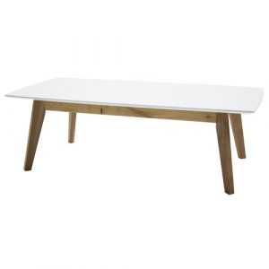 Farragut Coffee Table Mikado Living Finish: White / Oak Laminated