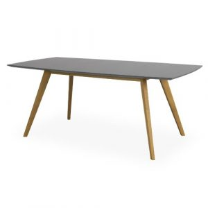 Farragut Extendable Dining Table Mikado Living Colour: Grey/Oak