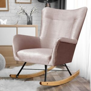Fianna Rocking Chair Beige Water Repellent Selsey Living Colour: Beige