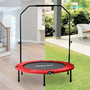 Fitness Trampoline Modern Luxe Pad Colour: Red